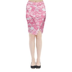 Plant Flowers Bird Spring Midi Wrap Pencil Skirt