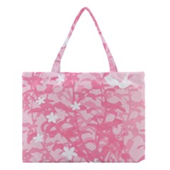 Plant Flowers Bird Spring Medium Tote Bag