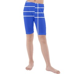 Stripes Pattern Template Texture Kids  Mid Length Swim Shorts