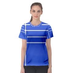 Stripes Pattern Template Texture Women s Sport Mesh Tee