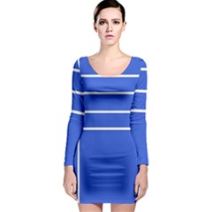 Stripes Pattern Template Texture Long Sleeve Bodycon Dress