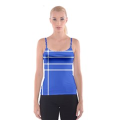 Stripes Pattern Template Texture Spaghetti Strap Top