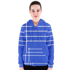 Stripes Pattern Template Texture Women s Zipper Hoodie