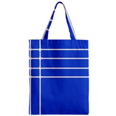 Stripes Pattern Template Texture Zipper Classic Tote Bag