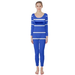 Stripes Pattern Template Texture Long Sleeve Catsuit