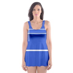 Stripes Pattern Template Texture Skater Dress Swimsuit