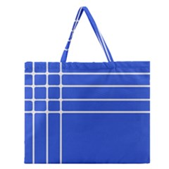 Stripes Pattern Template Texture Zipper Large Tote Bag