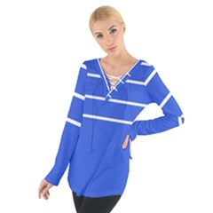 Stripes Pattern Template Texture Women s Tie Up Tee