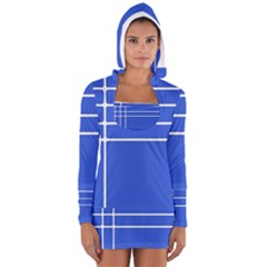 Stripes Pattern Template Texture Women s Long Sleeve Hooded T-shirt