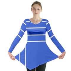 Stripes Pattern Template Texture Long Sleeve Tunic
