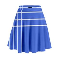 Stripes Pattern Template Texture High Waist Skirt