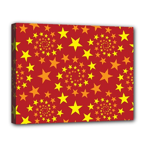 Star Stars Pattern Design Canvas 14  X 11
