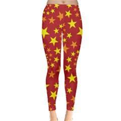 Star Stars Pattern Design Leggings