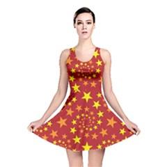 Star Stars Pattern Design Reversible Skater Dress