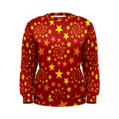 Star Stars Pattern Design Women s Sweatshirt