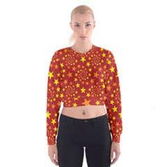 Star Stars Pattern Design Cropped Sweatshirt