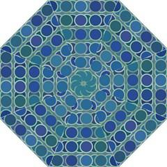 Circles Abstract Blue Pattern Golf Umbrellas