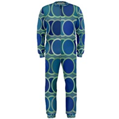 Circles Abstract Blue Pattern OnePiece Jumpsuit (Men)