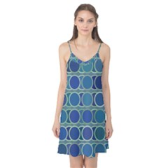Circles Abstract Blue Pattern Camis Nightgown