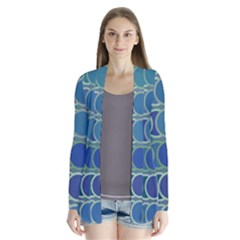 Circles Abstract Blue Pattern Cardigans