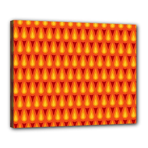 Simple Minimal Flame Background Canvas 20  X 16