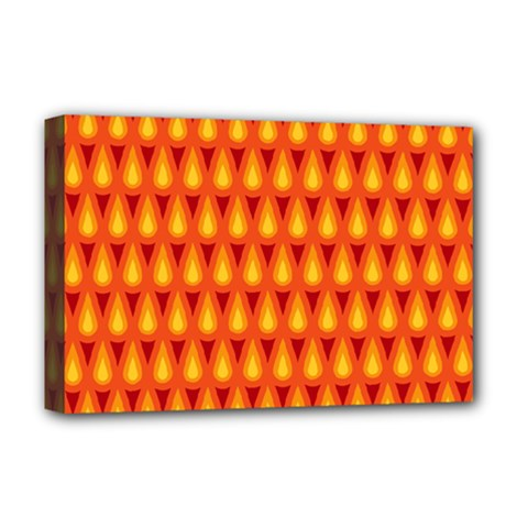 Simple Minimal Flame Background Deluxe Canvas 18  x 12