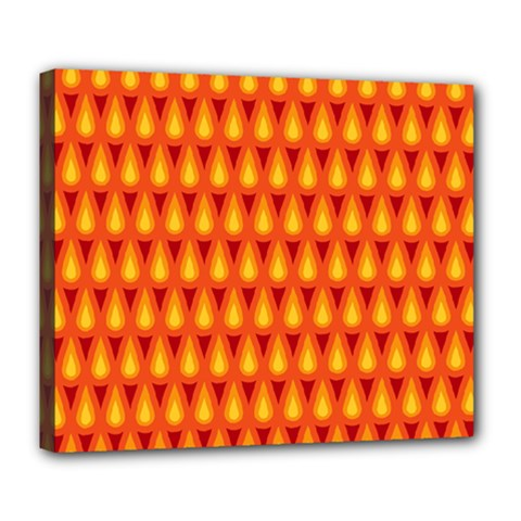 Simple Minimal Flame Background Deluxe Canvas 24  X 20