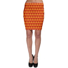 Simple Minimal Flame Background Bodycon Skirt