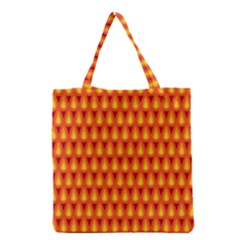 Simple Minimal Flame Background Grocery Tote Bag