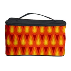 Simple Minimal Flame Background Cosmetic Storage Case