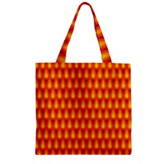 Simple Minimal Flame Background Zipper Grocery Tote Bag