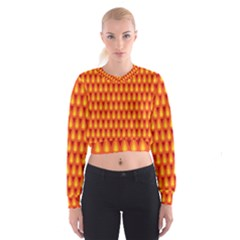 Simple Minimal Flame Background Cropped Sweatshirt