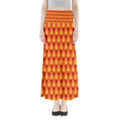 Simple Minimal Flame Background Maxi Skirts