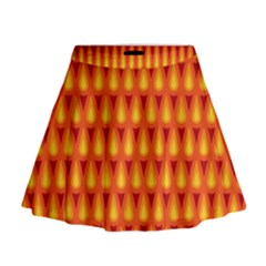 Simple Minimal Flame Background Mini Flare Skirt