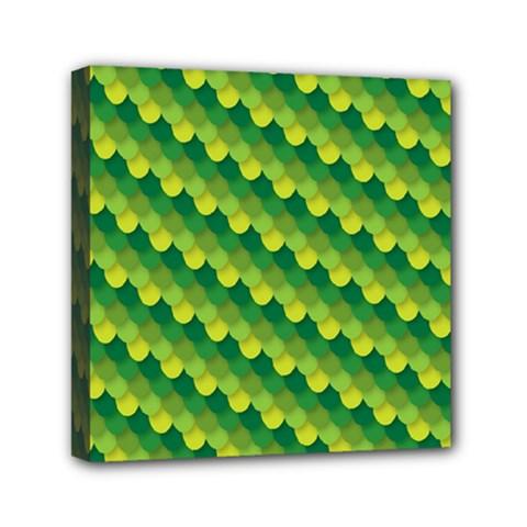 Dragon Scale Scales Pattern Mini Canvas 6  x 6