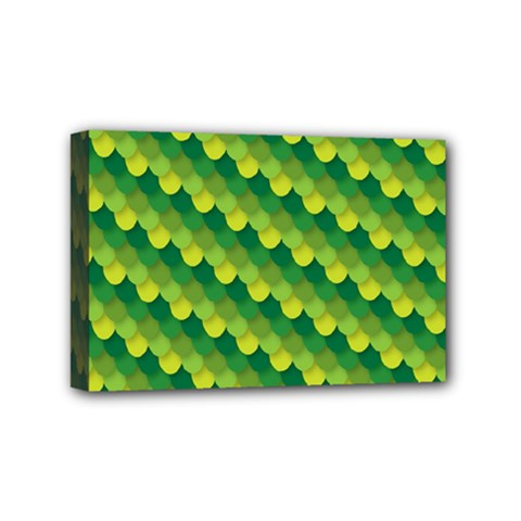 Dragon Scale Scales Pattern Mini Canvas 6  x 4