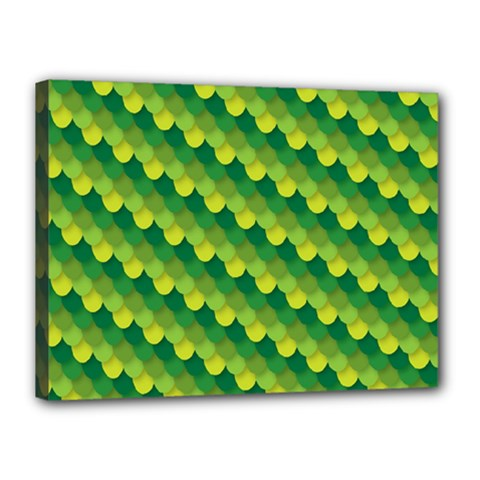 Dragon Scale Scales Pattern Canvas 16  x 12