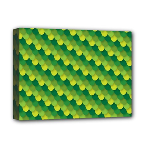 Dragon Scale Scales Pattern Deluxe Canvas 16  x 12