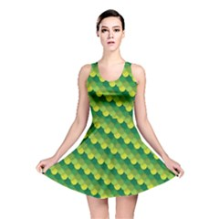 Dragon Scale Scales Pattern Reversible Skater Dress