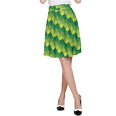 Dragon Scale Scales Pattern A-Line Skirt
