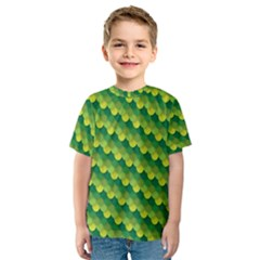 Dragon Scale Scales Pattern Kids  Sport Mesh Tee