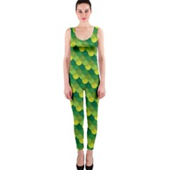 Dragon Scale Scales Pattern Onepiece Catsuit