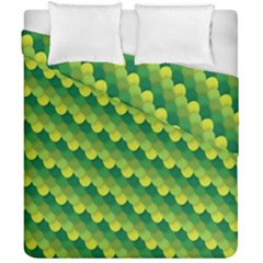 Dragon Scale Scales Pattern Duvet Cover Double Side (california King Size)