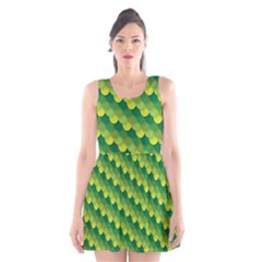 Dragon Scale Scales Pattern Scoop Neck Skater Dress