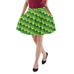 Dragon Scale Scales Pattern A-Line Pocket Skirt