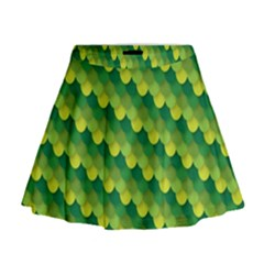 Dragon Scale Scales Pattern Mini Flare Skirt