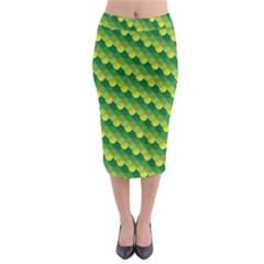Dragon Scale Scales Pattern Midi Pencil Skirt