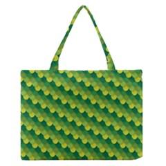 Dragon Scale Scales Pattern Medium Zipper Tote Bag