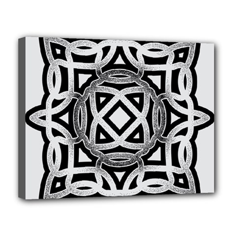 Celtic Draw Drawing Hand Draw Canvas 14  X 11