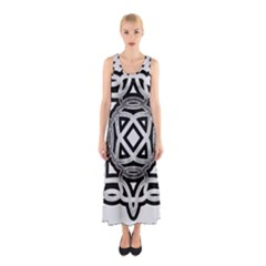 Celtic Draw Drawing Hand Draw Sleeveless Maxi Dress